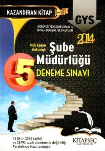 Kitapseç Yayınları MEB  GYS Şube Müdürlüğü 5 Deneme Sınavı