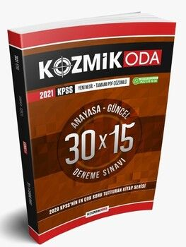 Kozmik Oda Yayınları 2021 KPSS Anayasa Güncel 30 x 15 Tamamı PDF Çözümlü Deneme