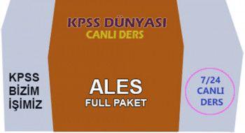 KPSS Dünyası ALES Full Paket Canlı Ders Videoları