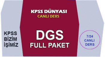 KPSS Dünyası DGS Full Paket Canlı Ders Videoları