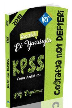 KR Akademi 2018 KPSS Coğrafya Konu Anlatımlı Not Defteri