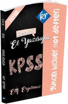 Kr Akademi 2018 KPSS Güncel Bilgiler Not Defteri