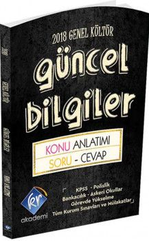 Kr Akademi 2018 KPSS Genel Kültür Güncel Bilgiler Konu Anlatımı ve Soru Cevap Kitabı