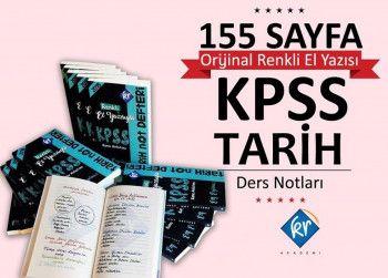 KR Akademi 2018 KPSS Tarih Not Defteri