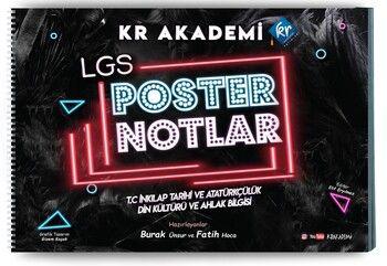 KR Akademi 8. Sınıf LGS İnkılap Tarihi ve Atatürkçülük Din Kültürü ve Ahlak Bilgisi Poster Notları