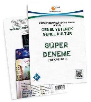 KR Akademi KPSS Genel Yetenek Genel Kültür Süper Deneme