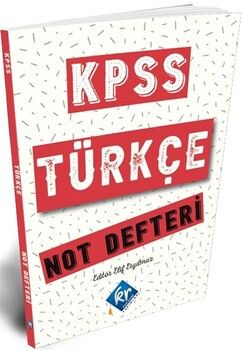 KR Akademi2021 KPSS Türkçe Konu Anlatımlı Not Defteri