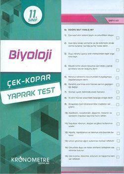 Kronometre Yayınları 11. Sınıf Biyoloji Çek Kopar Yaprak Test