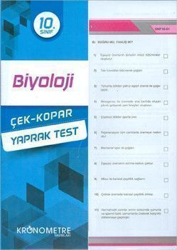 Kronometre Yayınları 10. Sınıf Biyoloji Yaprak Test