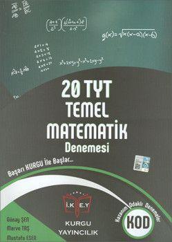 Kurgu Yayınları YKS 1. Oturum TYT Temel Matematik 20 Deneme