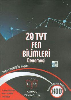 Kurgu Yayınları YKS 1. Oturum TYT Fen Bilimleri 20 Deneme