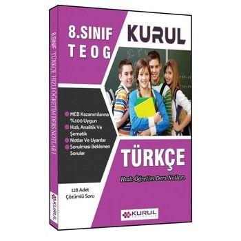 Kurul Yayıncılık 8. Sınıf TEOG Türkçe Hızlı Öğretim Ders Notları
