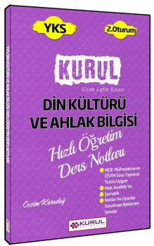 Kurul Yayınları YKS 2. Oturum Din Kültürü ve Ahlak Bilgisi Hızlı Öğretim Ders Notları
