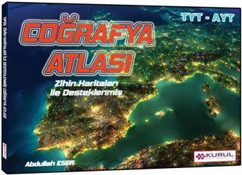 Kurul Yayınları YKS 1. ve 2. Oturum TYT AYT Zihin Haritaları İle Desteklenmiş Coğrafya Atlası