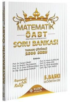 Kuzey Akademi Yayınları ÖABT İlköğretim Lise Matematik 2500 Soru Bankası Çözümlü