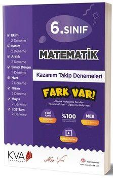 KVA Yayınları 6. Sınıf Matematik Fark Var Kazanım Takip Denemeleri