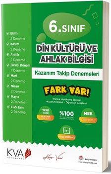 KVA Yayınları 6. Sınıf Din Kültürü ve Ahlak Bilgisi Fark Var Kazanım Takip Denemeleri