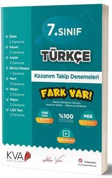 KVA Yayınları 7. Sınıf Türkçe Fark Var Kazanım Takip Denemeleri
