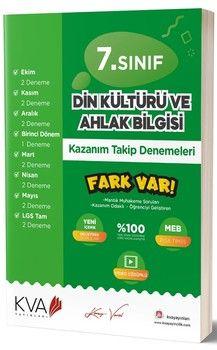 KVA Yayınları 7. Sınıf Din Kültürü ve Ahlak Bilgisi Fark Var Kazanım Takip Denemeleri
