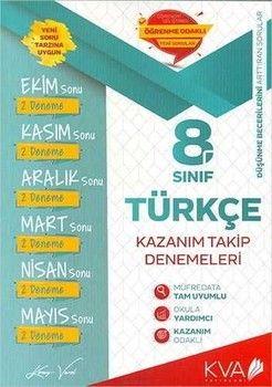 KVA Yayınları 8. Sınıf Türkçe Kazanım Takip Denemeleri