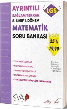 KVA Yayınları 8. Sınıf LGS 1. Dönem Matematik Ayrıntılı Sağlam Tekrar Soru Bankası