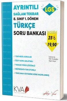 KVA Yayınları 8. Sınıf LGS 1. Dönem Türkçe Ayrıntılı Sağlam Tekrar Soru Bankası