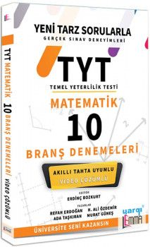 Lemma TYT Matematik Video Çözümlü 10 Branş Denemeleri