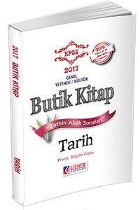 Lider 2017 KPSS Tarih Butik Kitap Konu Anlatımlı Cep
