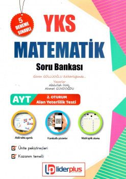 Lider Plus Yayınları YKS 2. Oturum AYT Matematik Soru Bankası 5 Deneme İlaveli