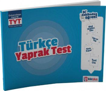 Lider Plus Yayınları TYT Türkçe Yaprak Test
