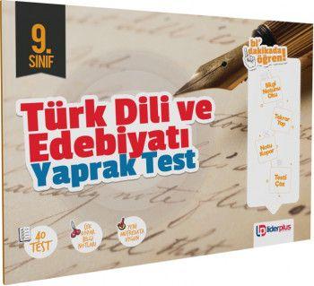 Lider Plus Yayınları 9. Sınıf Türk Dili ve Edebiyatı Yaprak Test
