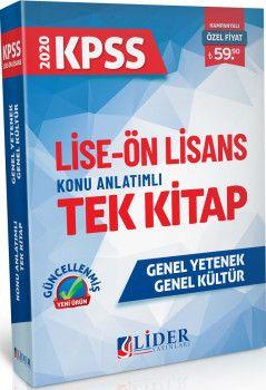 Lider Yayınları 2020 KPSS Lise Ön Lisans Konu Anlatımlı Tek Kitap