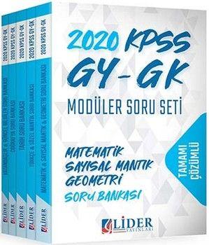 Lider Yayınları 2020 KPSS GY GK Tamamı Çözümlü Modüler Soru Seti