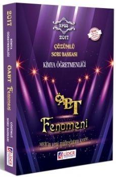 Lider Yayınları 2017 ÖABT Kimya Öğretmenliği Fenomen Çözümlü Soru Bankası