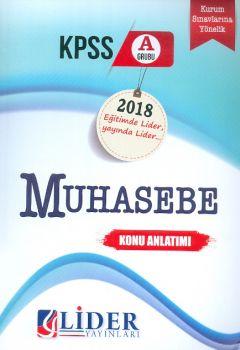 Lider Yayınları 2018 KPSS A Muhasebe Konu Anlatımı