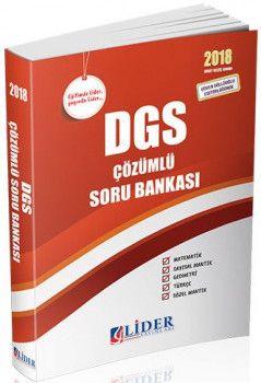 Lider Yayınları 2018 DGS Çözümlü Soru Bankası