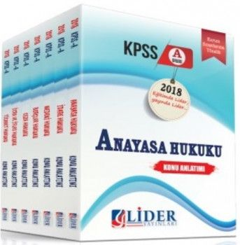 Lider Yayınları 2018 KPSS A Grubu Hukuk Konu Anlatımlı Modüler Set