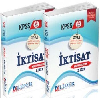 Lider Yayınları 2018 KPSS A Grubu İktisat Konu Anlatımlı 2 Cilt