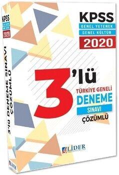 Lider Yayınları 2020 KPSS Genel Yetenek Genel Kültür 3 Deneme Çözümlü