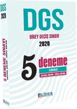 Lider Yayınları 2020 DGS Sayısal Sözel 5 Deneme Sınavı