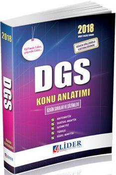 Lider Yayınları 2018 DGS Konu Anlatımı