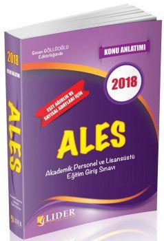 Lider Yayınları 2018 ALES Konu Anlatımı