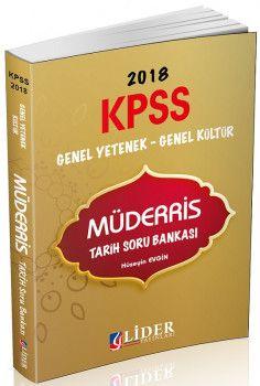 Lider Yayınları 2018 KPSS Genel Yetenek Genel Kültür Müderris Tarih Soru Bankası