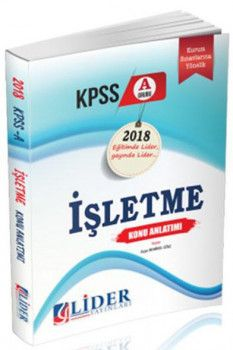 Lider Yayınları 2018 KPSS A Grubu İşletme Konu Anlatımı