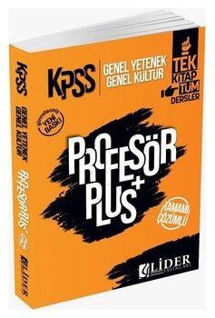 Lider Yayınları 2021 KPSS Genel Yetenek Genel Kültür Profesör Plus Soru Bankası