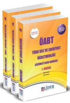 Lider Yayınları ÖABT Türk Dili ve Edebiyatı Öğretmenliği Çözümlü Soru Bankası Modüler Set