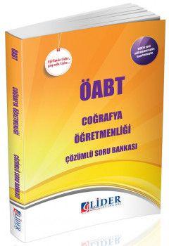 Lider Yayınları ÖABT Coğrafya Öğretmenliği Çözümlü Soru Bankası