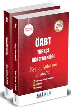 Lider Yayınları ÖABT Türkçe Öğretmenliği Konu Anlatımlı 2 Kitap