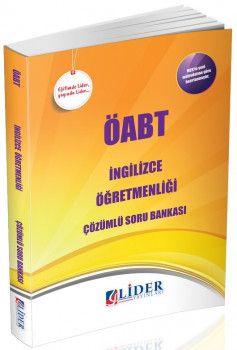 Lider Yayınları ÖABT İngilizce Öğretmenliği Çözümlü Soru Bankası