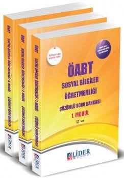 Lider Yayınları ÖABT Sosyal Bilgiler Öğretmenliği Çözümlü Modüler Soru Bankası